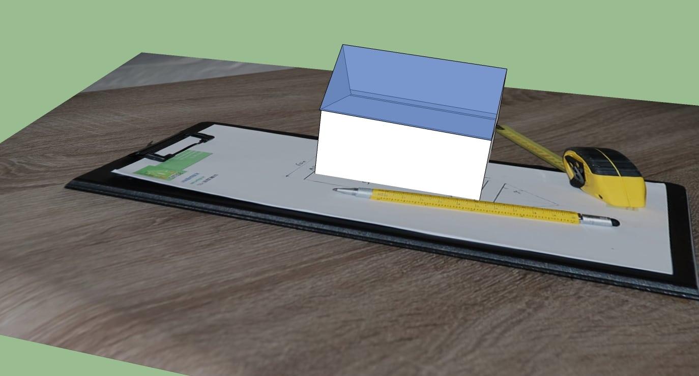 identification des surfaces pour certificat PEB par Certegie